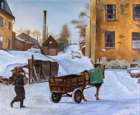 Lundagatan | Oil on canvas | 61cm x 50cm | Prod year 2016