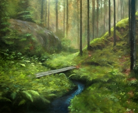 Forest trail | Oil on canvas | 80cm x 65cm | Prod year 2017