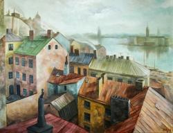 Arbetarslussen | Oil on canvas | 120cm x 90cm | Prod year 2016