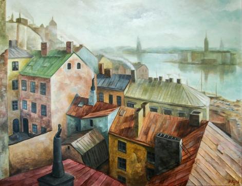 Arbetarslussen   Oil on canvas   120cm x 90cm   Prod year 2016