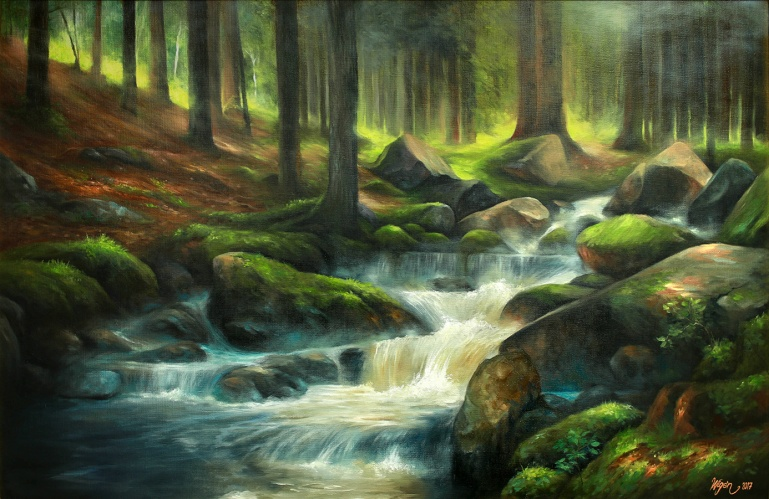 Forest Creek | Oil on canvas | 100cm x 65cm | Prod year 2017