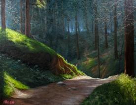 Forest Path   Oil on canvas   61cm x 50cm   Prod year 2016   Price $500 / 5.000kr