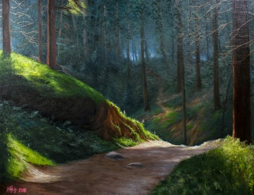 Forest Path | Oil on canvas | 61cm x 50cm | Prod year 2016 | Price $500 / 5.000kr