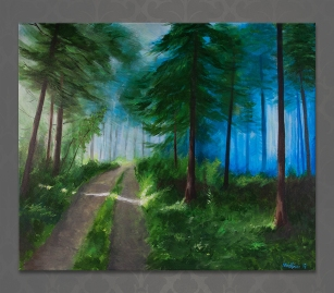 Forest road | Acrylics on canvas | 61cm x 50cm | Prod year 2015