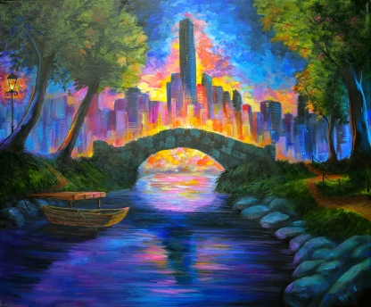 Gapstow Bridge   Acrylics on canvas   61cm x 50cm   Prod year 2016