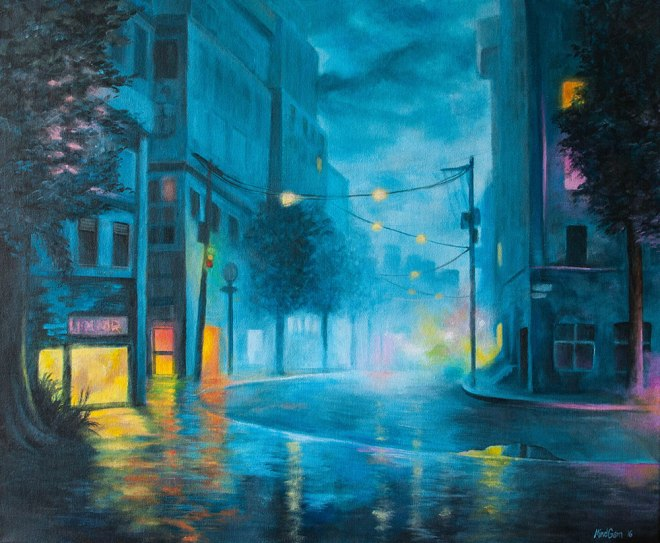 Quiet Night | Acrylics on canvas | 61cm x 50cm | Prod year 2016