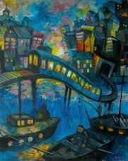 Slussen_imressionism | Acrylics on canvas | 61cm x 50cm | Prod year 2016