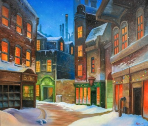 Christmas town | Acrylics on Canvas | 61 x 50cm | 2016