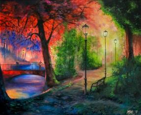 Park Walk | Oil on Canvas | 61 x 50cm | 2017