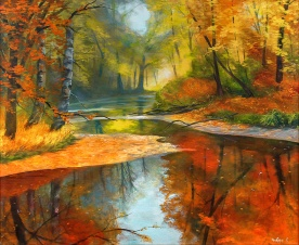 Fall Forest   Oil on Canvas   60cm x 51cm   Painted 2016   Price $500 / 5.000kr