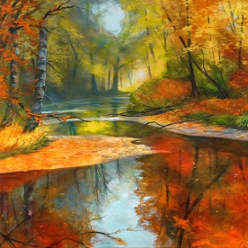 Fall Forest | Oil on Canvas | 60cm x 51cm | Painted 2016 | Price $500 / 5.000kr