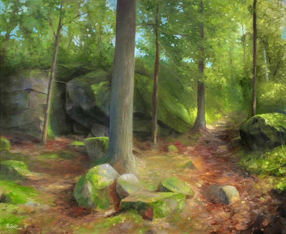 Sundrained Path | Oil on Canvas | 60cm x 51cm | Painted 2017