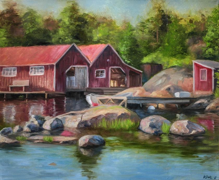 Myskö   Oil on canvas   61cm x 50cm   Prod year 2018   Price $500 / 5.000kr