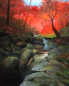 Autumn Stream | Olja på canvas | 61x50cm | Målad 2018 | Price: $500 usd / 5.000kr