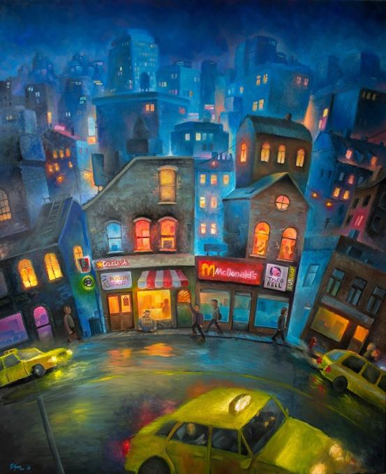 Manhattan | Oil on canvas | 120cm x 100cm | painted 2018