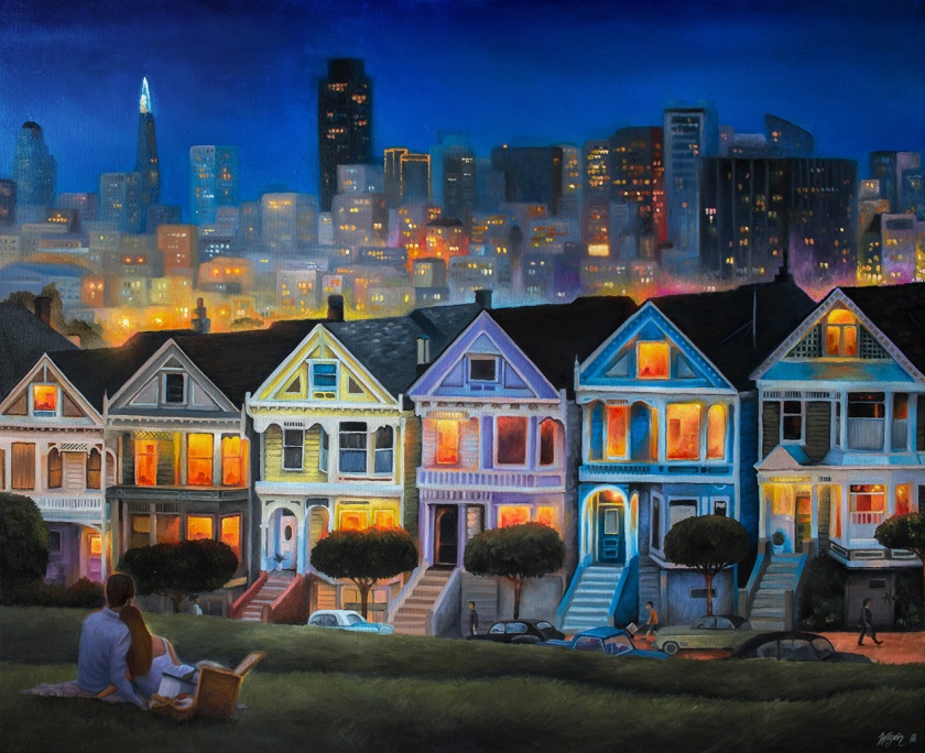 Painted Ladies | Oil on Canvas | 100cm x 80cm | painted 2018 | Price: $1000 usd / 10.000kr