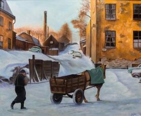 Lundagatan | Oil on Canvas | 2018 | 61cm x 50cm | Price: $500 usd / 5.000kr