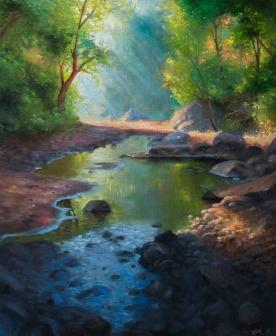 shallow pond   Oil on Canvas   61cm x 50cm