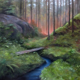 Encounter | Oil on Canvas | 81cm x 65cm | Painted 2017 | Price Såld!