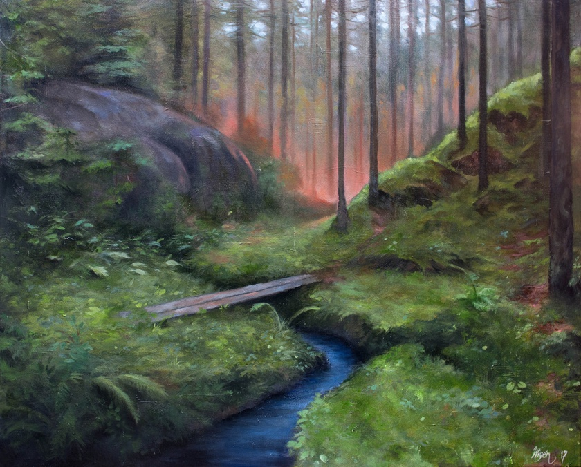 Encounter   Oil on Canvas   81cm x 65cm   Painted 2017   Price $500 / 5.000kr