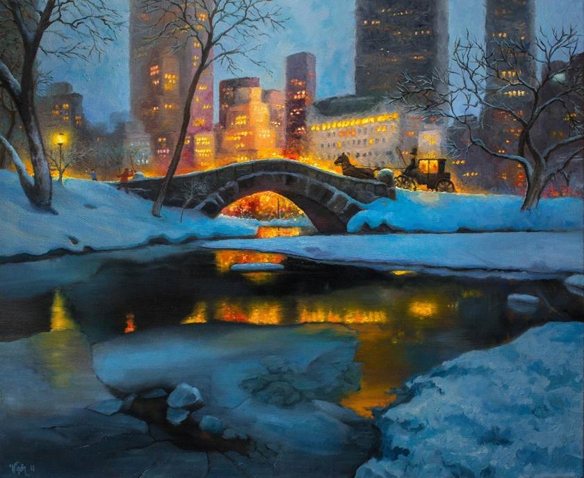 Gapstow Bridge   Oil on Canvas   61cm x 50cm   Painted 2018   Price: $500 usd / 5.000kr