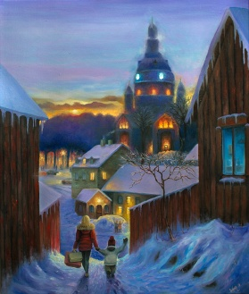 Katarina Kyrka | Oil on Canvas | 61cm x 50cm | Painted 2018 | Price: $500 usd / 5.000kr