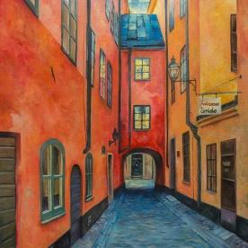 Skeppar Olofs gränd | Oil on Canvas | 2019 | 65 cm x 55cm | Price Såld!